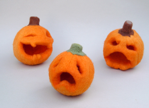 Light-up Jack-o'lanterns