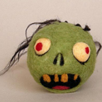 Severed zombie head